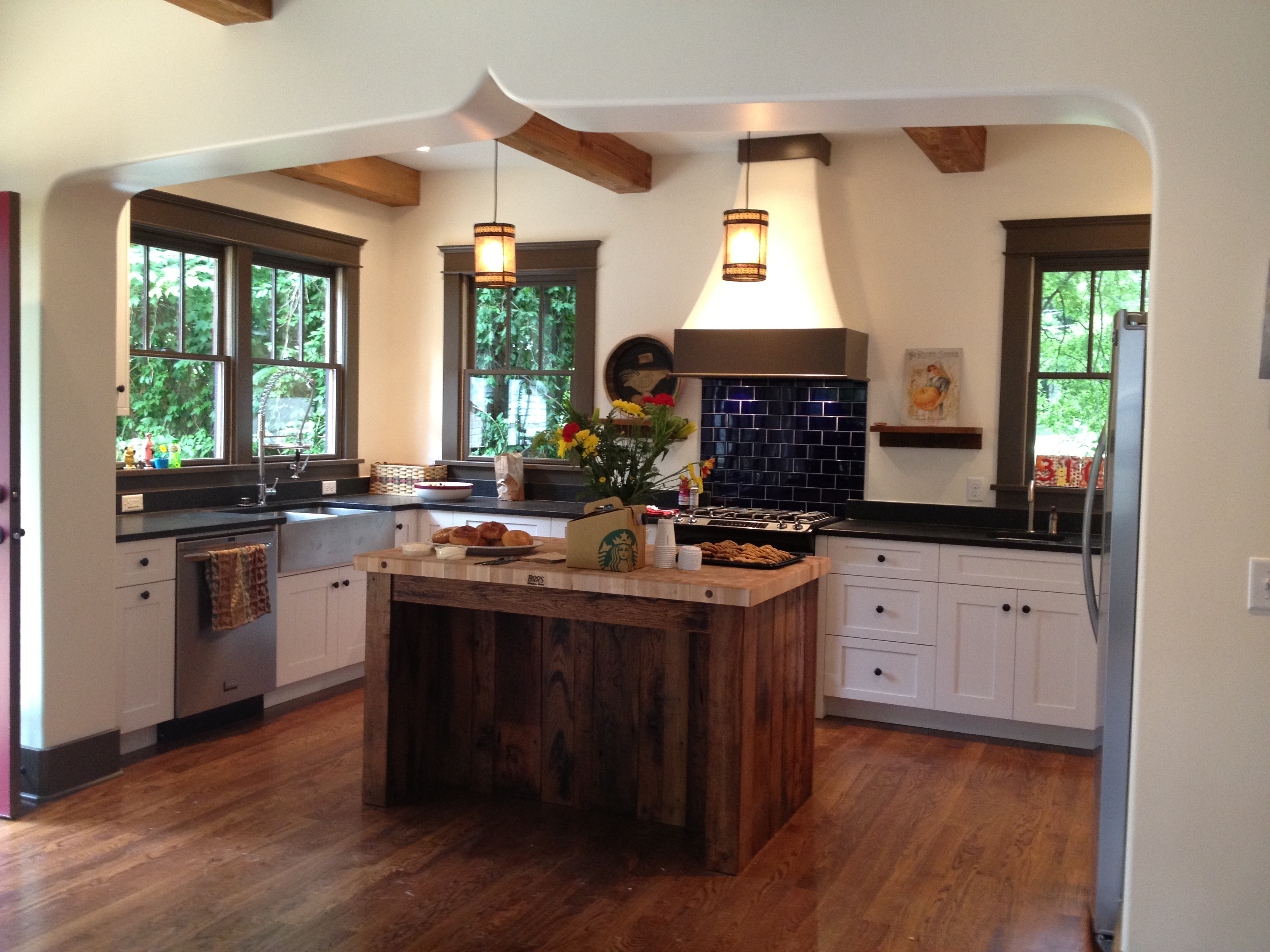 Classy Reclaimed Wood Island Kitchen Reclaimed Wood Island Marcelle Guilbeau Rustic Reclaimed Wood Kitchen Island Rustic Wood Island Kitchen kitchen Rustic Wood Island