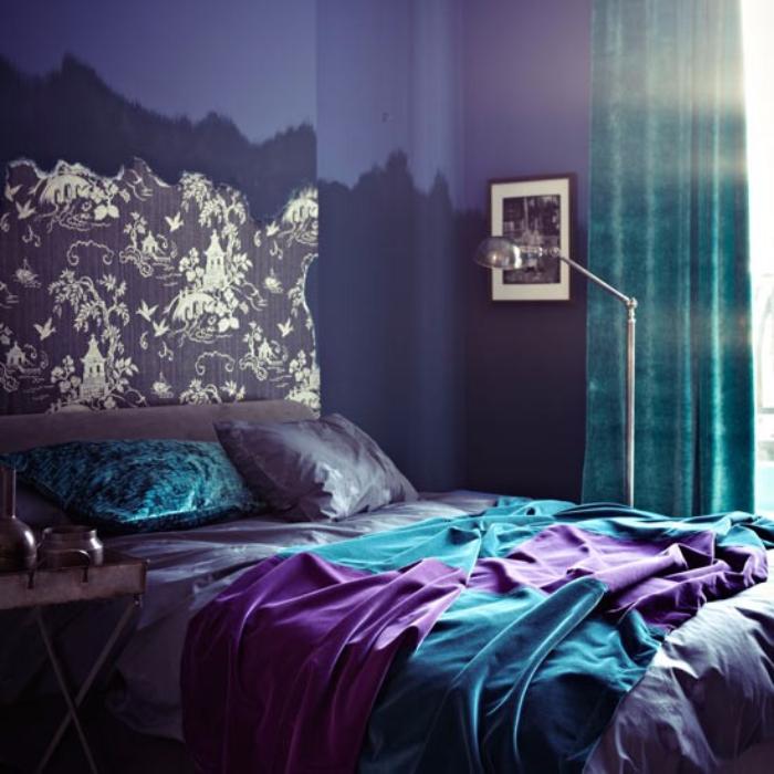 Le violet pour la chambre à coucher ? Oui, oui et oui 7 exemples