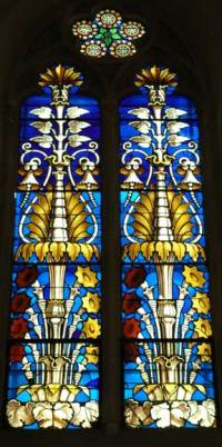 Stained glass windows with floral designs - Stained glasses