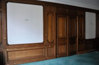 Antique oak wood paneled room from the 19th century ...