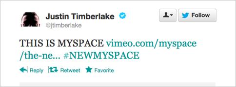 Justin-Timberlake-Myspace-Tweet