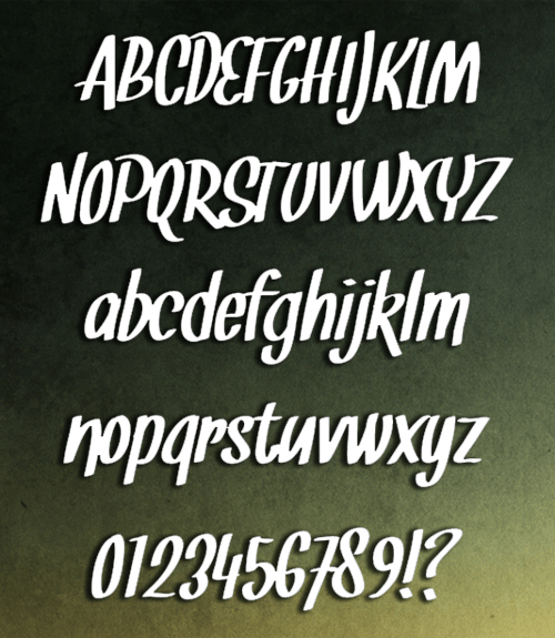 snickles font preview