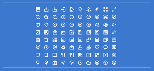 80 free minimal white icon set