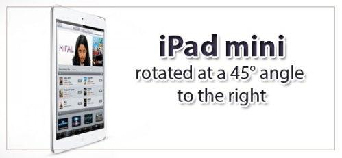 45° iPad Mini Mockup