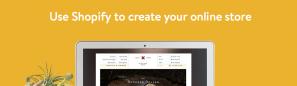 Shopify permette di creare un e-commerce online e senza alcuna esperienza di web design.