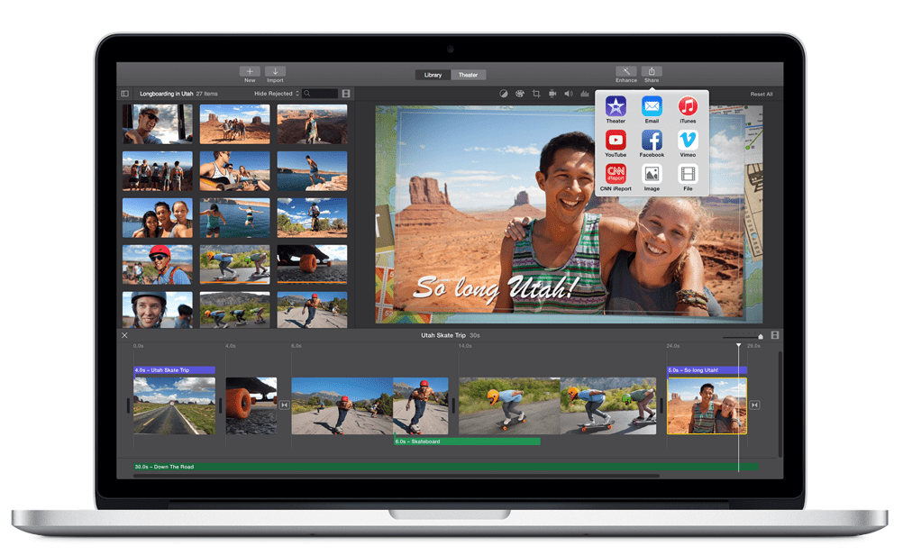 3 alternative a iMovie per Mac, Windows e Linux