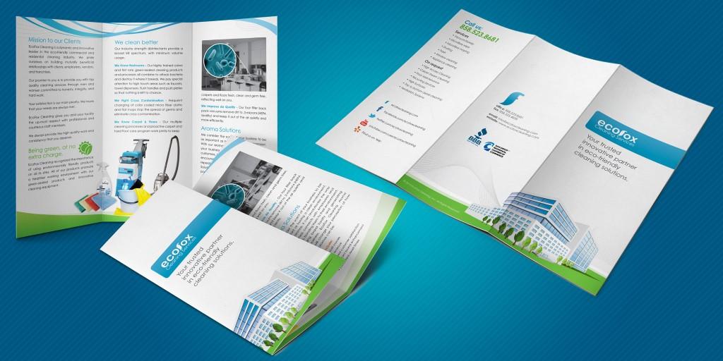 EcoFox Cleaning Services Brochure - Marco Sebastian - Freelance - services brochure