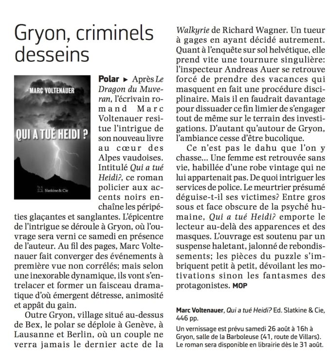 Article Le Courrier