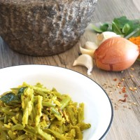 Green Bean Thoren - Green Beans with Grated Coconut
