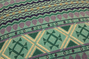 Blue Illusion Indian Cotton Accent Cushion
