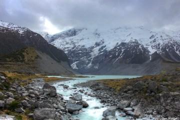 Mueller Glacial Lake, Hooker Valley, New Zealand