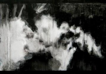 Sin título (L'écran). Óleo sobre papel, 30 x 42 cm