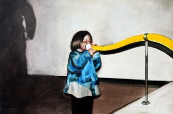 Sin título (Blow I). Óleo sobre tabla, 41 x 61 cm