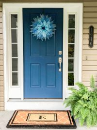 An eDesign Front Door Colour Transformation; Before and After