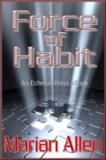 Cover of Force of Habit - A blank puzzle with one piece levitating.