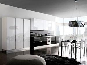 Cucina moderna laccata lucida