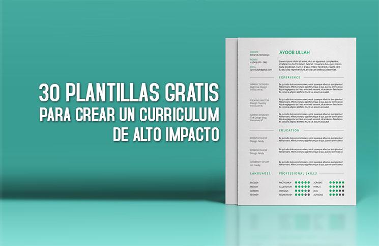 30 PLANTILLAS PARA CURRICULUM GRATIS 】⚡ Curriculum de alto impacto