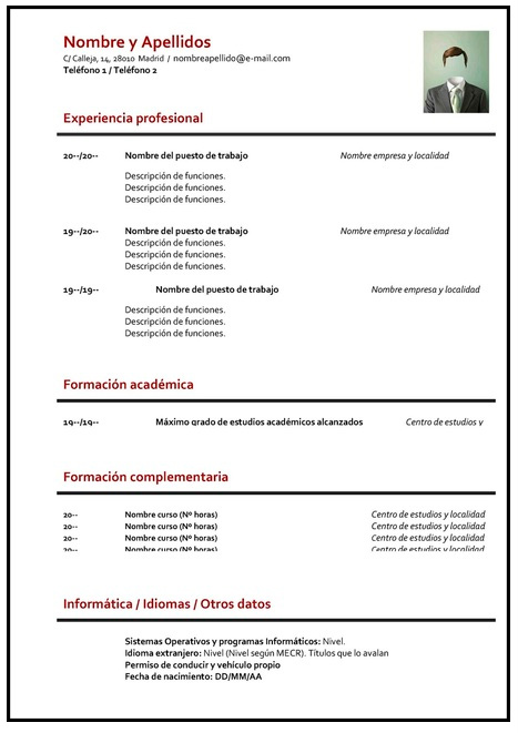 GUÍA】¿Cómo hacer un curriculum vitae? ➤ PLANTILLAS PARA CV