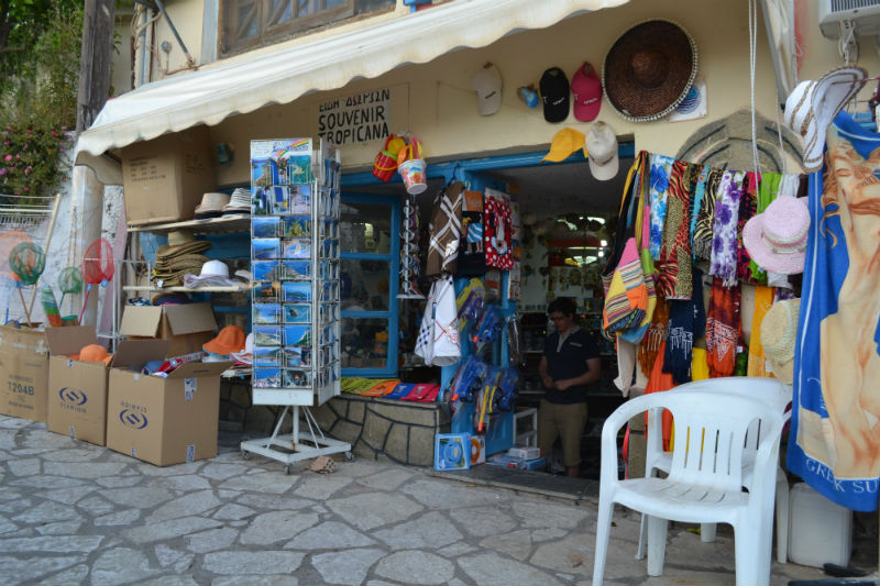 Lone souvenir shop in Spartochori