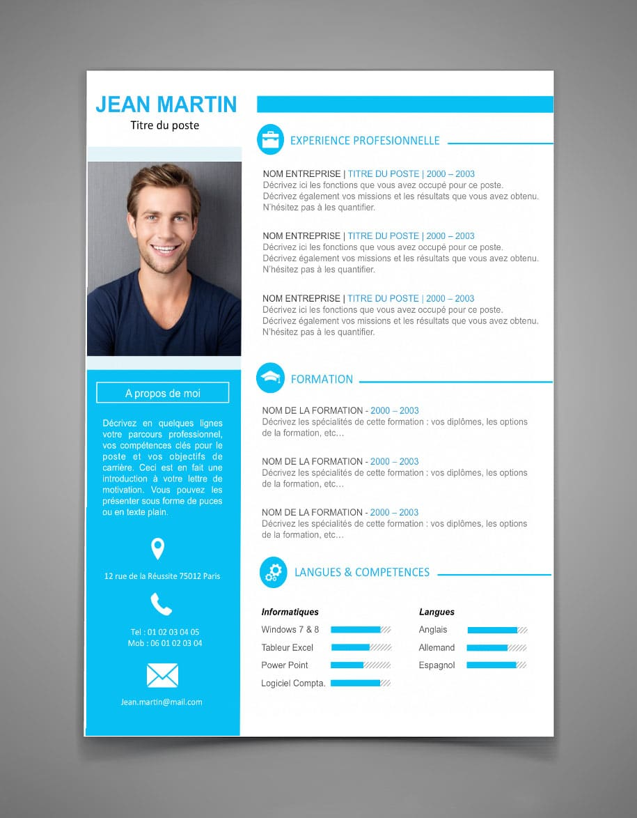 telecharger mise en page cv word