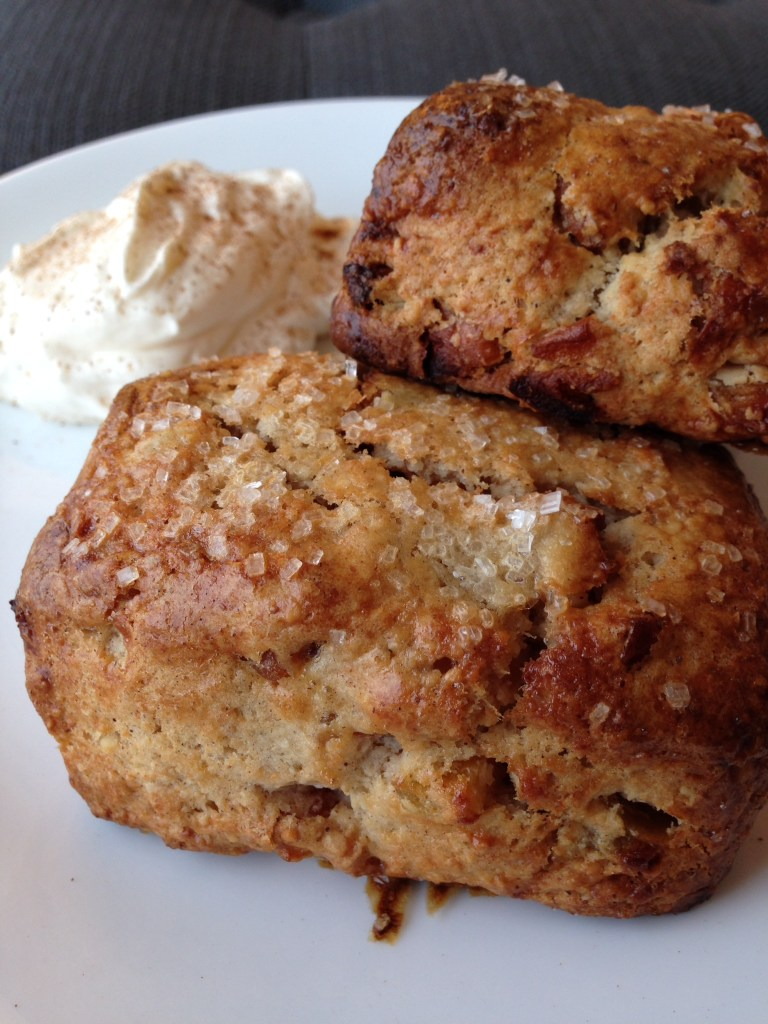 sprinkled with sanding sugar for crunchy, bakery-style scones