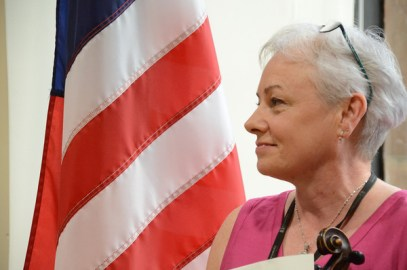 Marie Reilly American flag