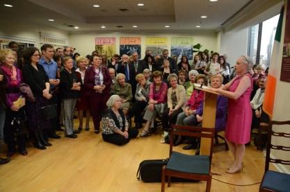 Marie speaking at Irish Consulate New York