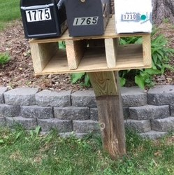 The new mailbox support shelf