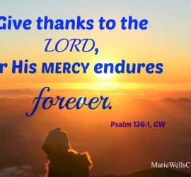 His mercy endures forever. Psalm 136:1