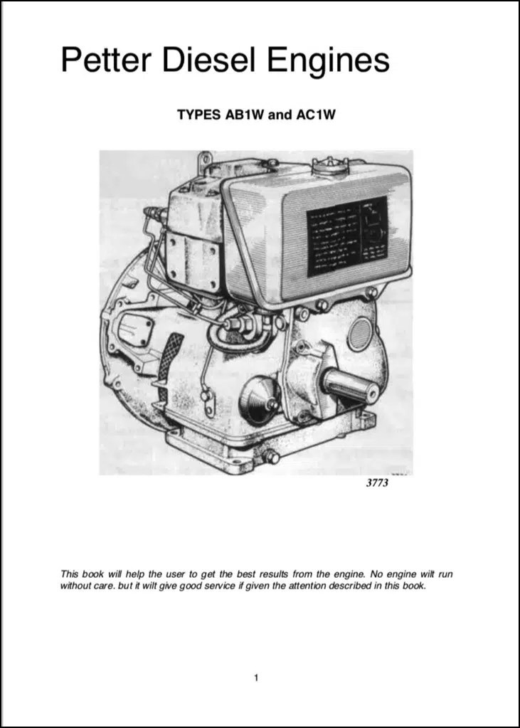 Petter Diesel Engines AB1W, AC1W Operation Manual - MARINE DIESEL BASICS