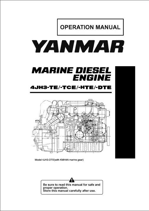Yanmar Diesel Engine Manuals - MARINE DIESEL BASICS - operation manual