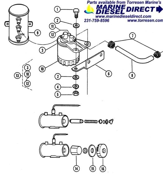 universal fuel filter assembly