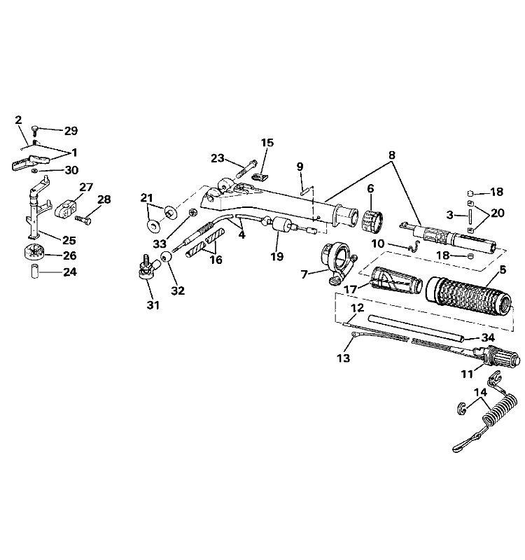 steering diagram 25 hp johnson