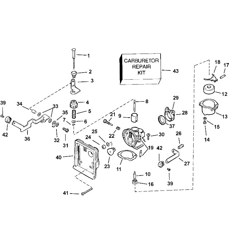 Evinrude Outboard Engine Diagram Electrical Circuit Electrical