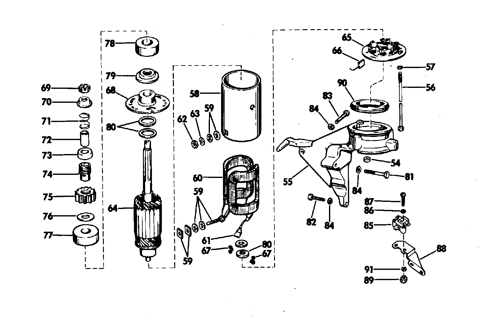 electric motor parts diagram