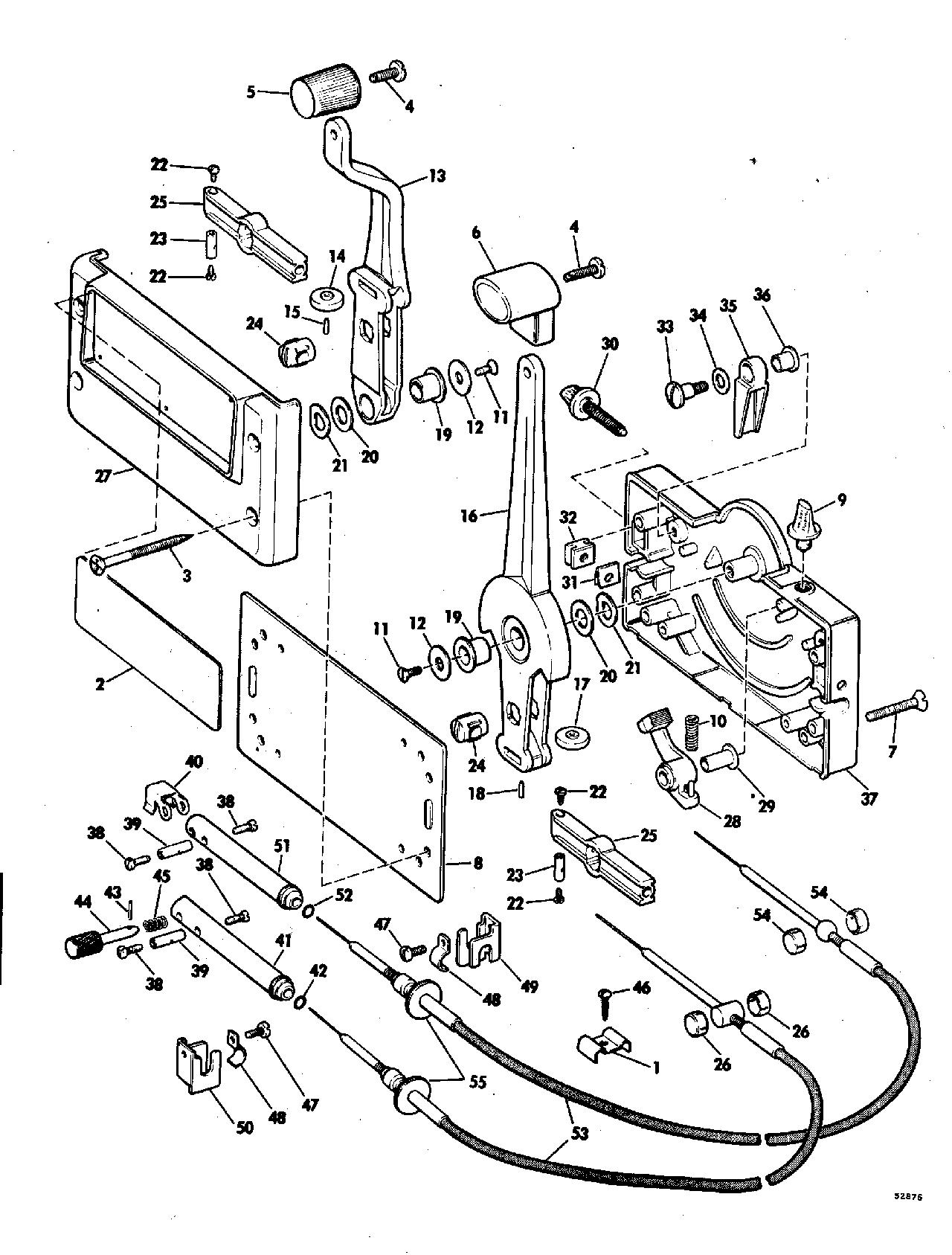 1977 mercury outboard control diagram