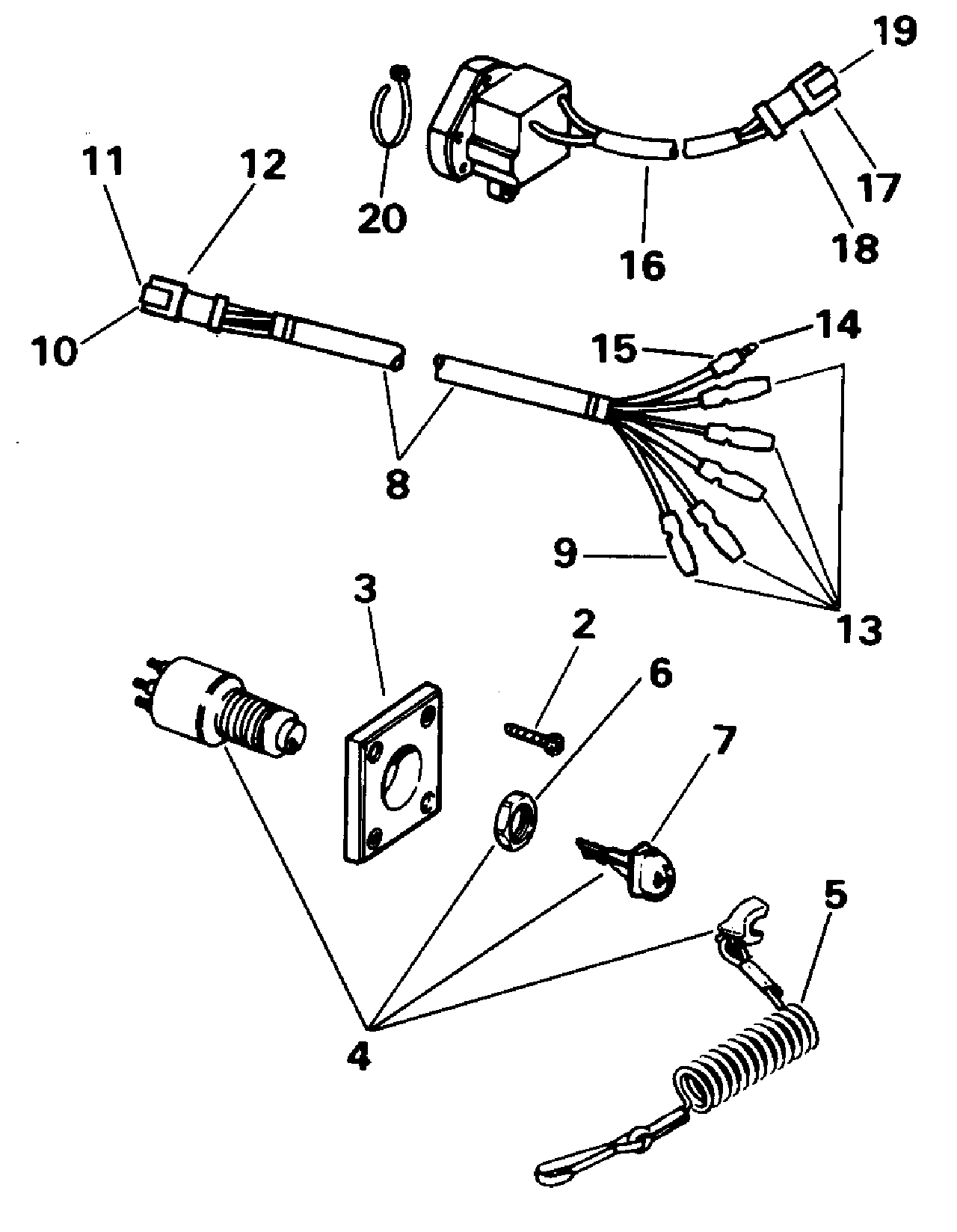 ignition switch wiring diagram on evinrude outboard ignition wiring