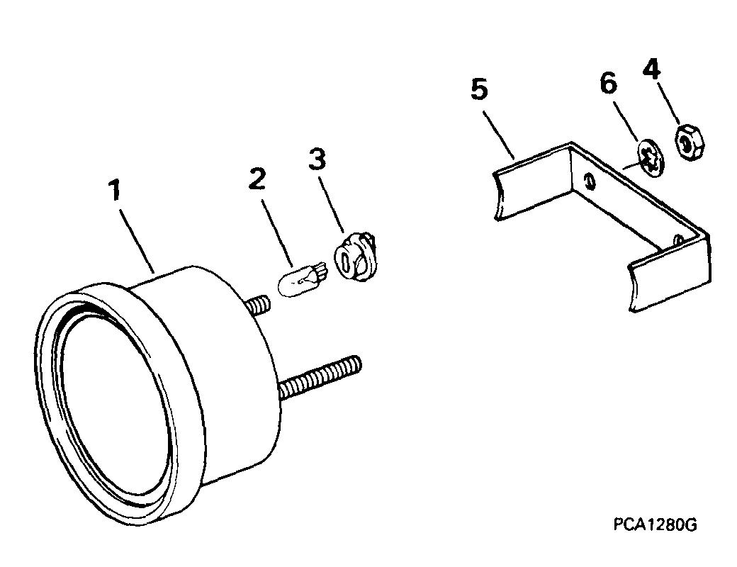evinrude johnson omc new instrument tach wiring harness 174732