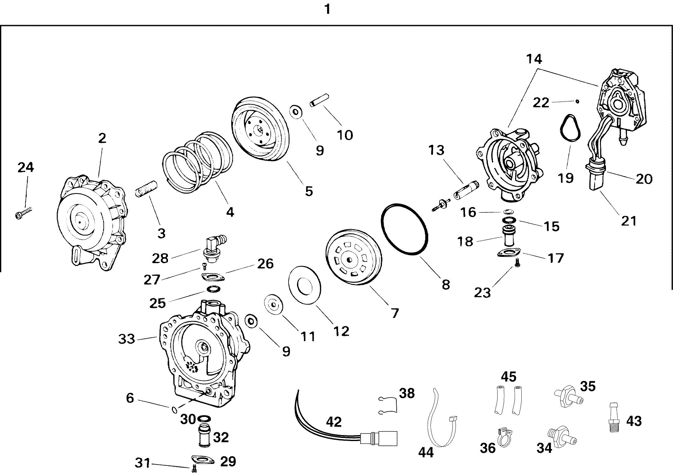 johnson outboard fuel pump diagram in addition evinrude fuel pump
