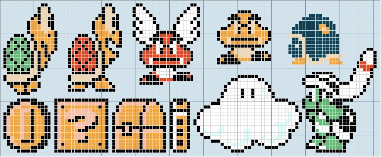 557 best crochet nintendo graphs images on Pinterest Hama beads - print free graph paper no download
