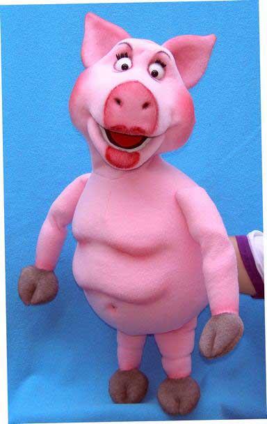 Buy Pig foam ventriloquist puppet, dummy doll online, Size 28\