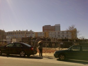 Johns Hopkins Medical Institutions in the backdrop of land cleared for new housing- will their low-wage workers be able to afford to live here?