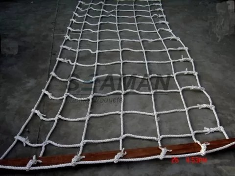 Marine Scrambling Net Boat Safety Ladder With Wooden