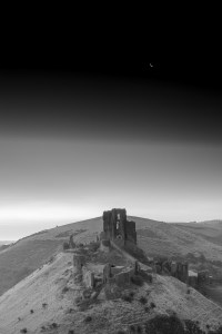 Corfe Castle and the Moon