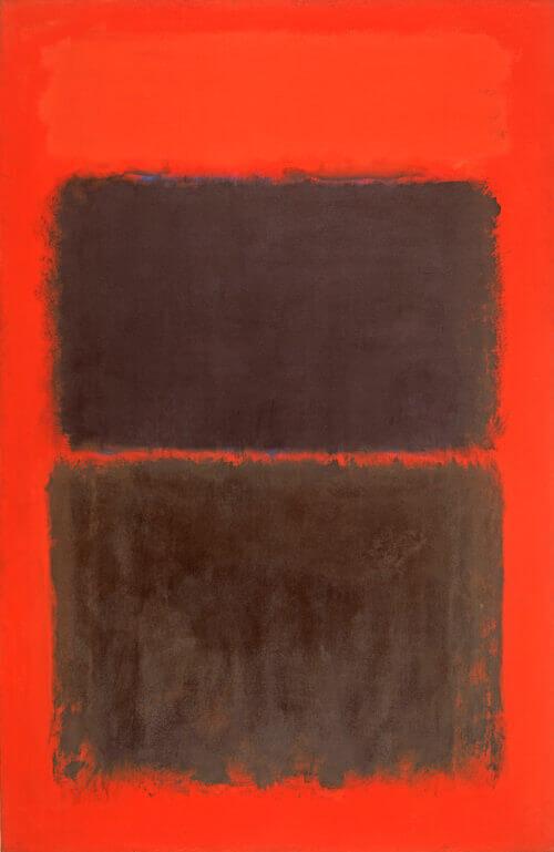 Light Red Over Black (1957) by Mark Rothko