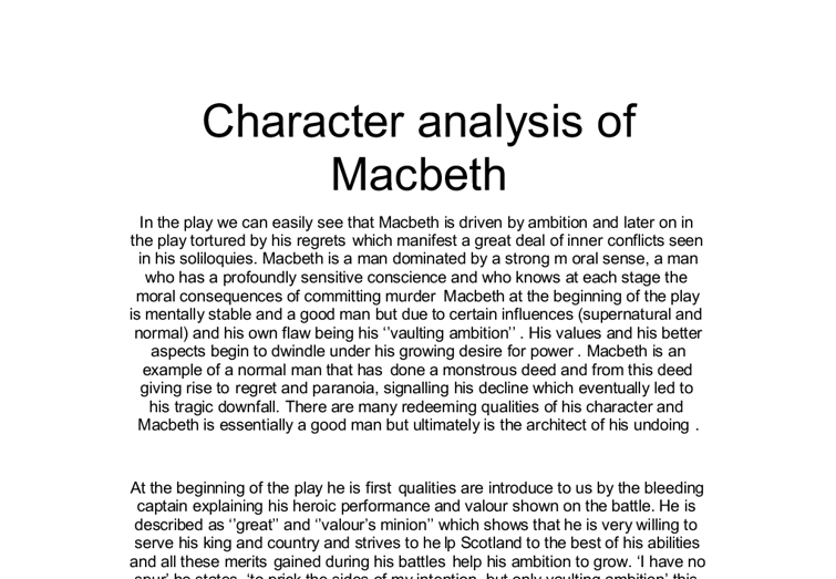 Essay On Character