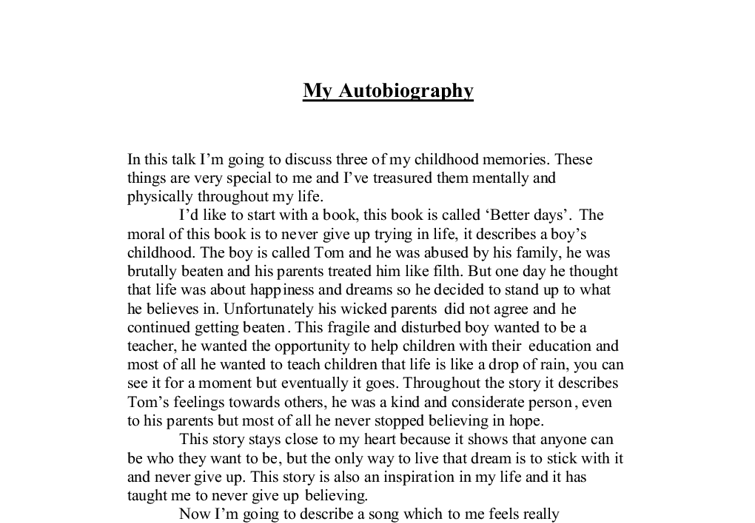 biographical dissertation Choose a family member to interview ask them some of the questions below (and some of your own) takes notes so that you can write up a biography from the answers the purpose of this.