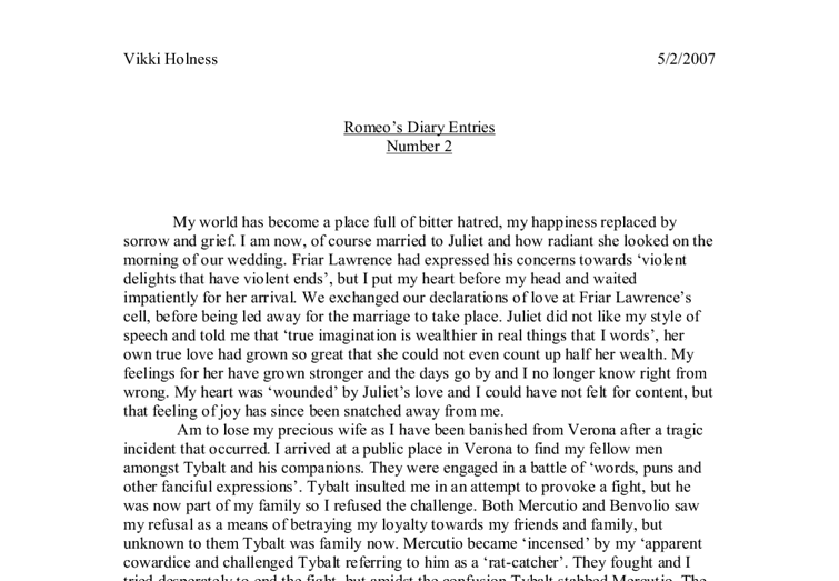 Romeo and juliet different types of love essay