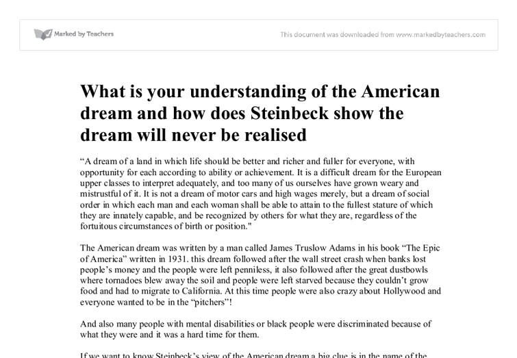 the american dream 12 essay This essay failure of american dream and other 63,000+ term papers ( steinbeck 13) willy loman also lives in a city, in brooklyn, new york ( miller 12.