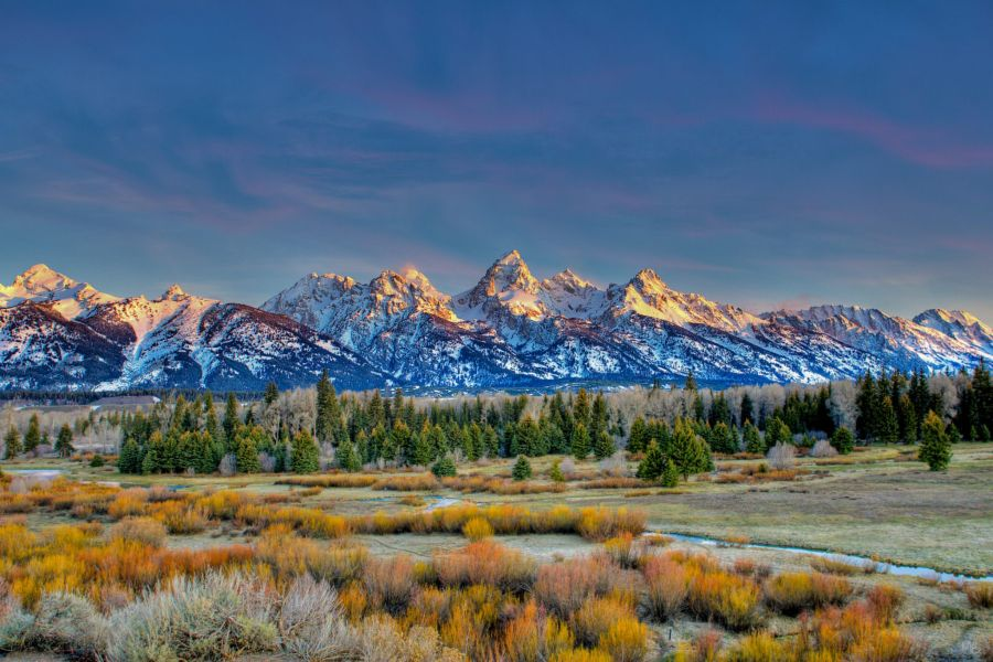 Sunrise Over the Tetons
